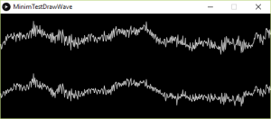 The audio wave being displayed in processing via Minim